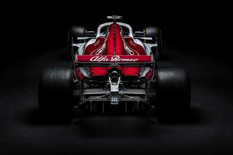Formúlubíll Sauber 2018.