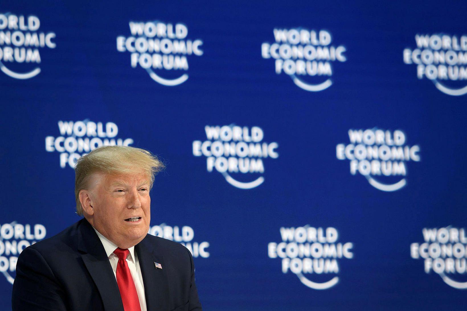 Donald Trump er í Davos eins og margir aðrir.