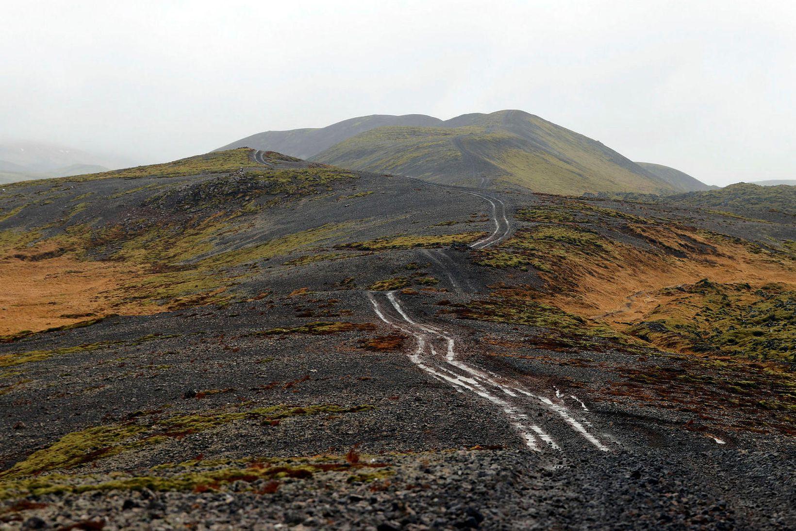Umhverfisstofnun ráðleggur fólki á Reykjanesi að halda sig innandyra með …
