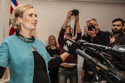 Þóra Arnórsdóttir tilkynnir frambboð sitt til embættis forseta Íslands fyrr á þessu ári.