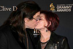 Ozzy og Sharon Osbourne í byrjun árs árið 2020.