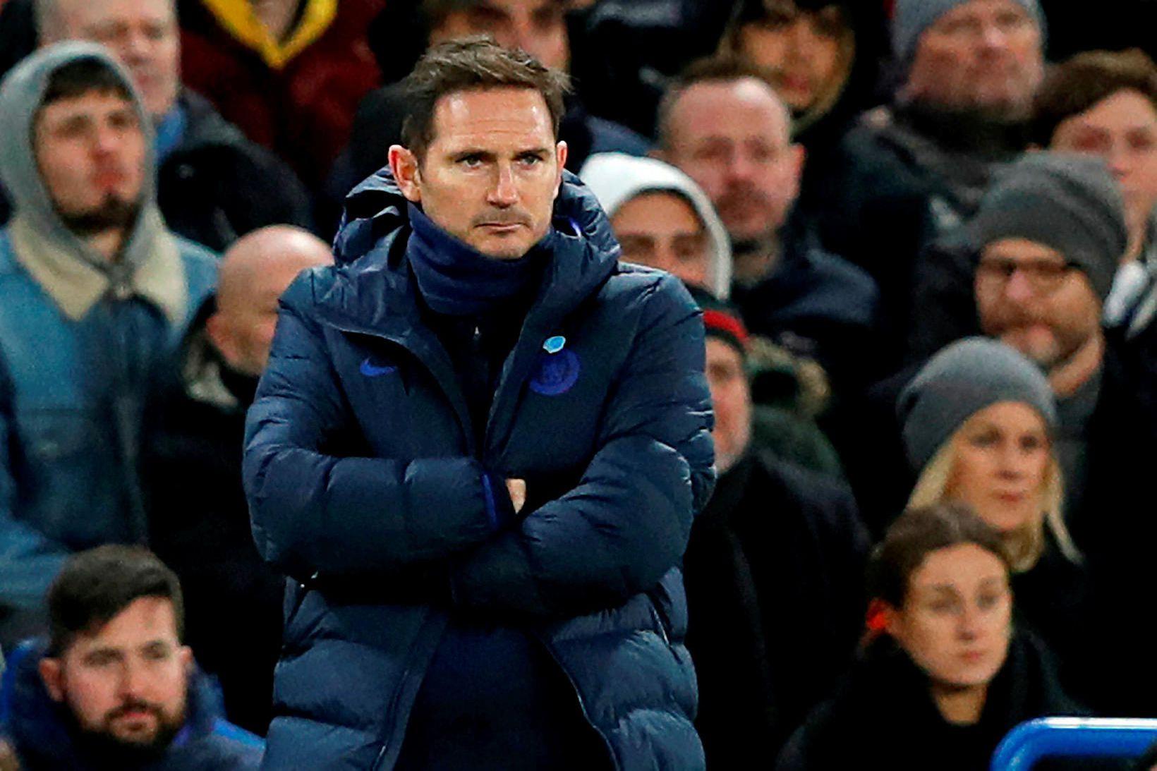 Frank Lampard var pirraður á hliðarlínunni í kvöld.