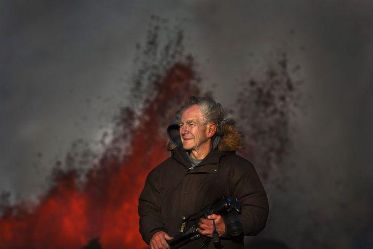 Vísindamaðurinn Haraldur Sigurðsson eldfjallafræðingur.