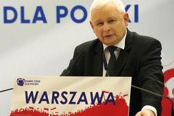 Jaroslaw Kaczynski, leiðtogi PiS.