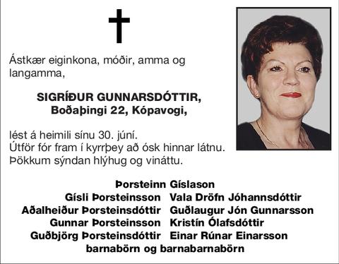 Sigríður Gunnarsdóttir,