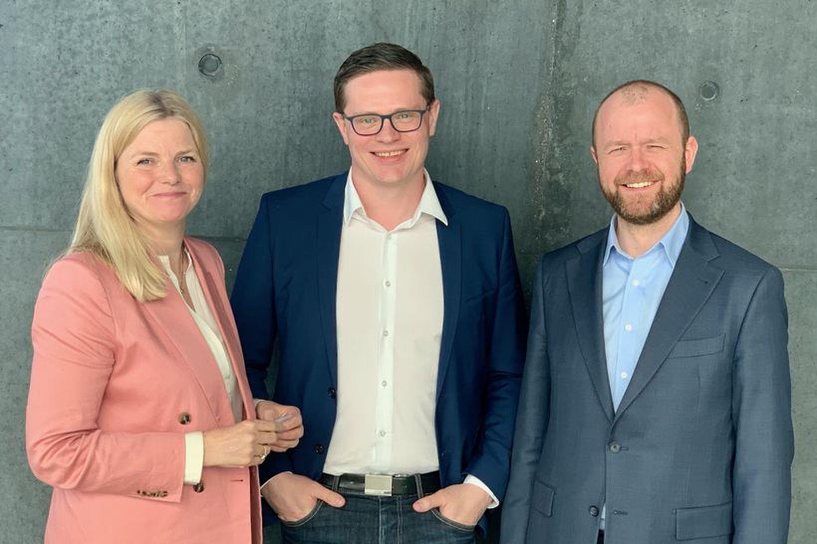 Helga Valfells hjá Crowberry Capital, Guðmundur Kristjánsson stofnandi Lucinity og …