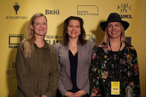 Hrönn Sveinsdóttir, Eliza Reid og Marsibil Sæmundsdóttir.