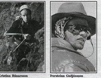 Kristinn Rúnarsson og Þorsteinn Guðjónsson.