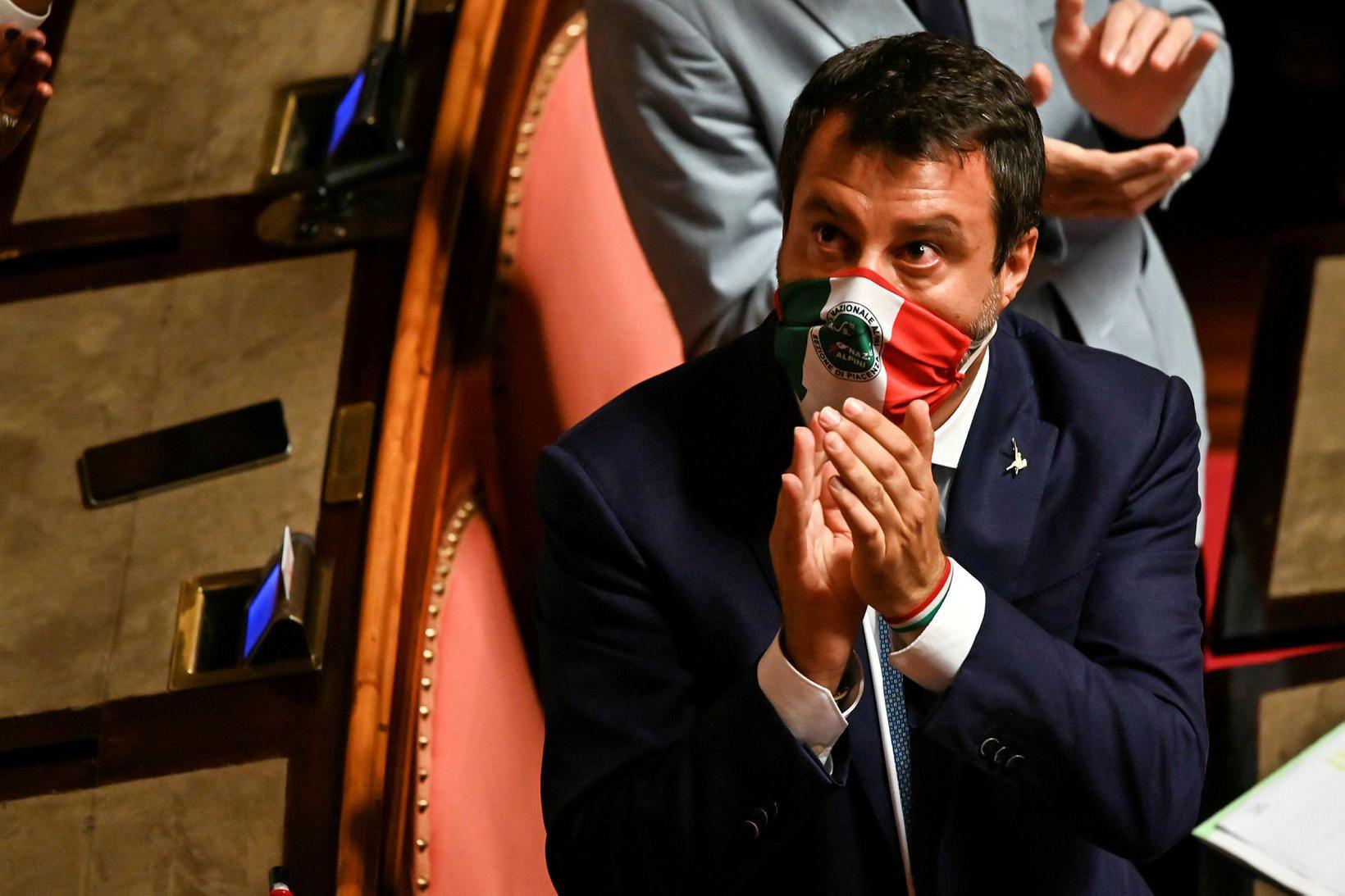 Matteo Salvini, fyrrverandi innanríkisráðherra Ítalíu, sendi Fedez tóninn vegna ummæla …