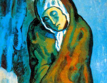 La Misereuse Accroupie eftir Pablo Picasso.