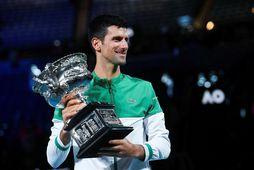 Novak Djokovic vann á Opna ástralska mótinu í níunda sinn.