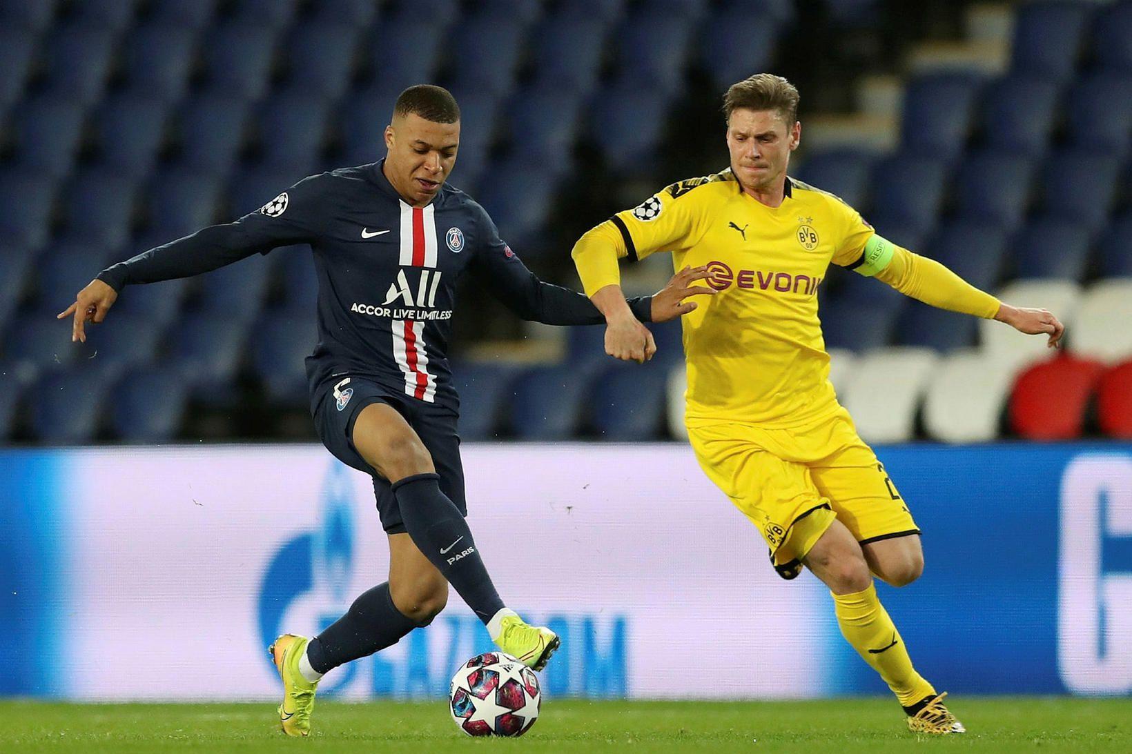 Frá leik Dortmund og PSG í Meistaradeildinni.