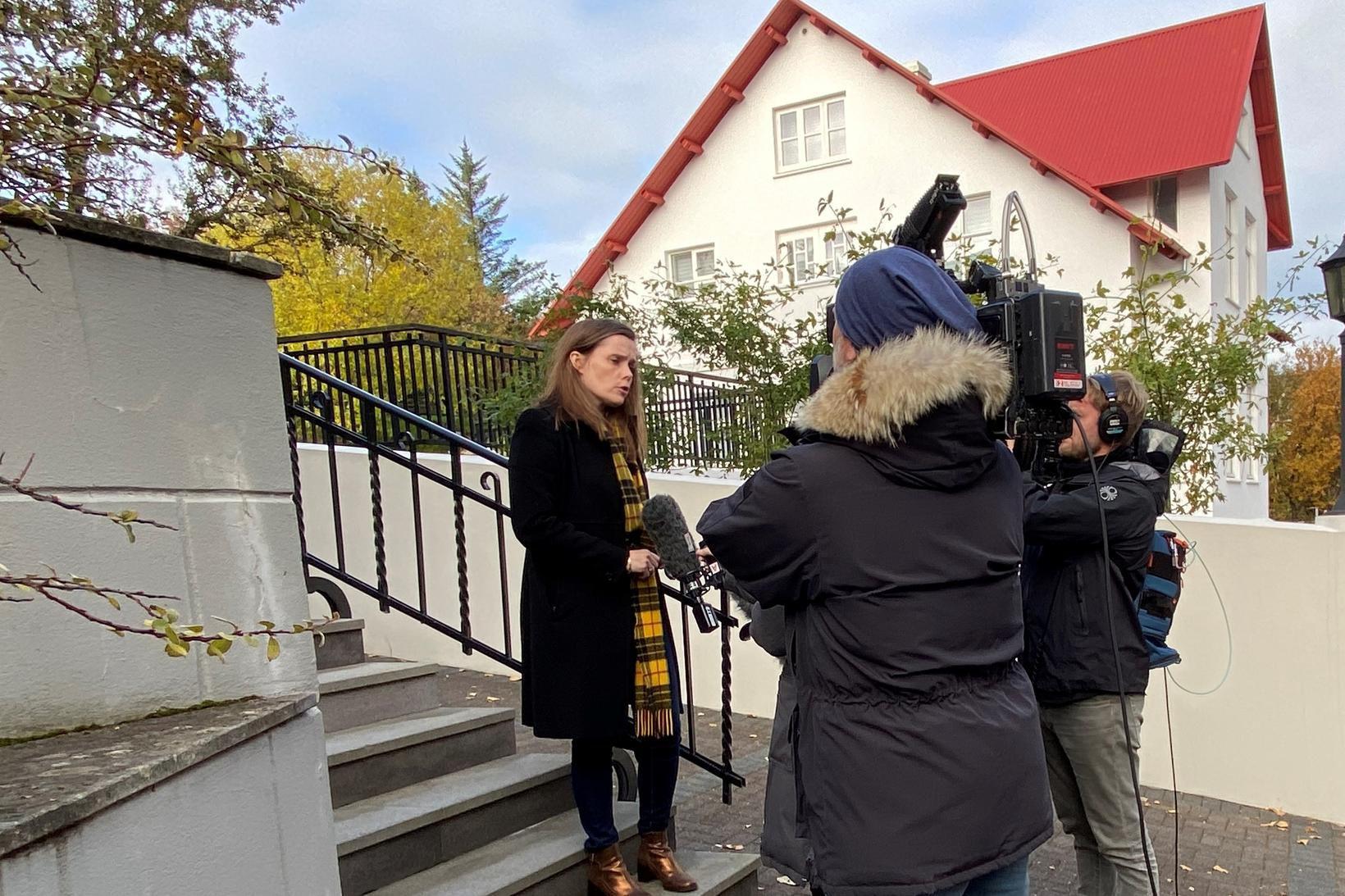 Katrín Jakobsdóttir ræddi við fréttamenn að loknum ríkisstjórnarfundi í dag.