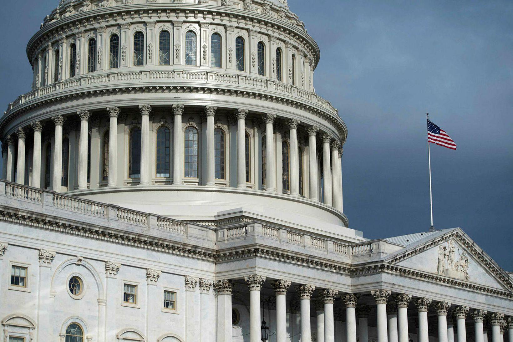 Þinghúsið á Capitol-hæð í Washington DC.