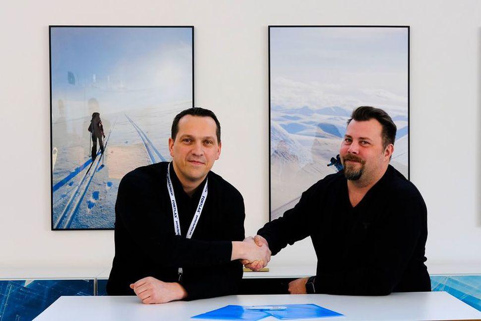 Guðbrandur R. Sigurðsson frá Endor og Robert Lundberg frá Fortlax/Eco ...