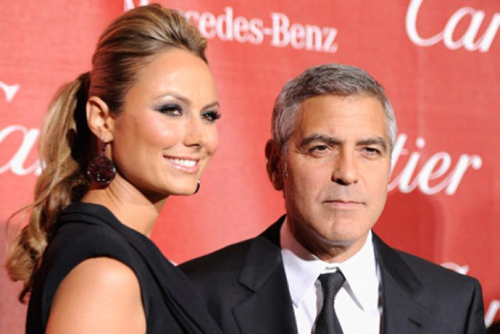 George Clooney og Stacy Keibler.