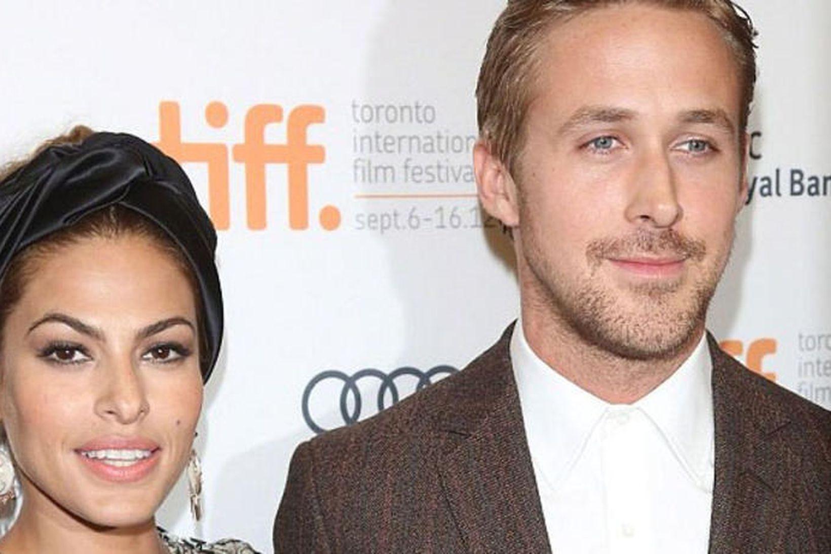 Eva Mendes og Ryan Gosling eiga tvær dætur saman.