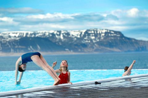 Swimming is an essential part of many Icelanders' daily routine.
