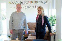 Atli Magnússon, framkvæmdastjóri Arnarskóla, og María Sigurjónsdóttir, fagstjóri í skólanum.