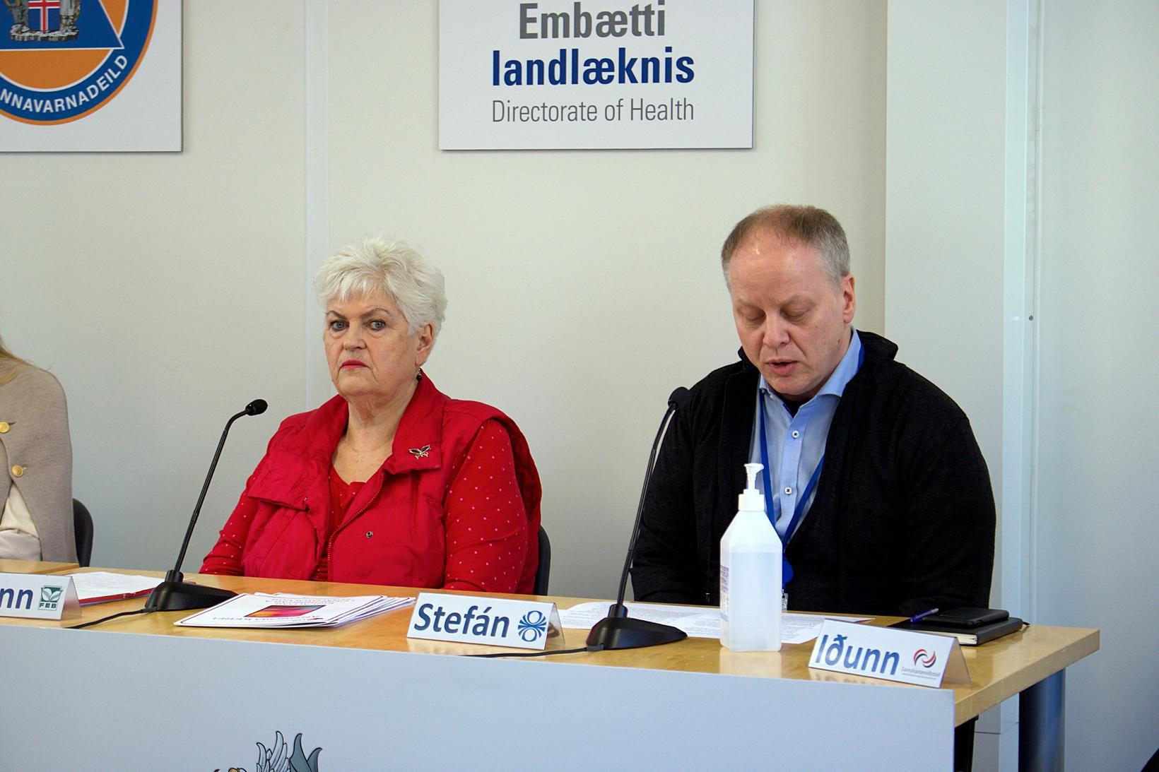 Þórunn og Stefán Eiríksson á fundinum í dag.