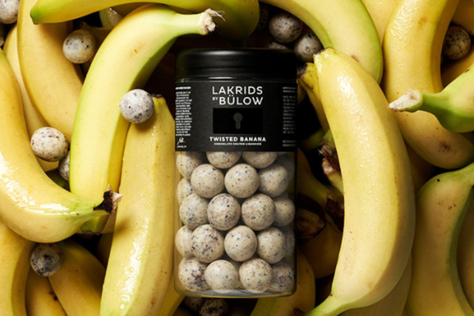 Twisted Banana er ný bragðtegund af lakkrís frá Johan Bülow …