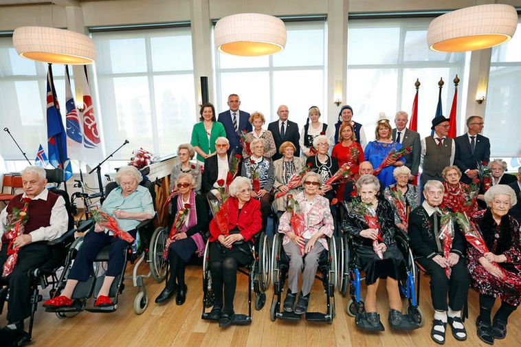 Icelandic President Guðni Th. Jóhannesson invited all Icelandic centenarians to a reception at Hrafnista home ...
