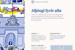 Nú verður auðveldara fyrir ungna sem aldna að fræðast um Alþingi og störf þingsins.