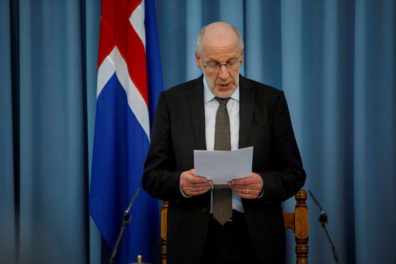 Steingrímur J. Sigfússon forseti Alþinigs hefur ritað bréf til forseta …