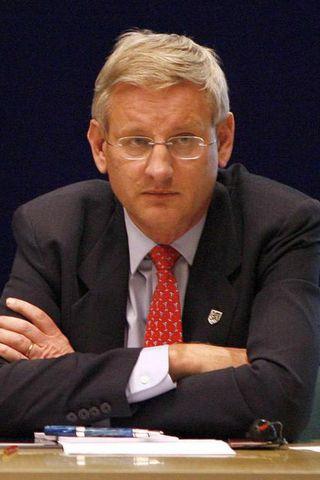Carl Bildt, utanríkisráðherra Svíþjóðar.