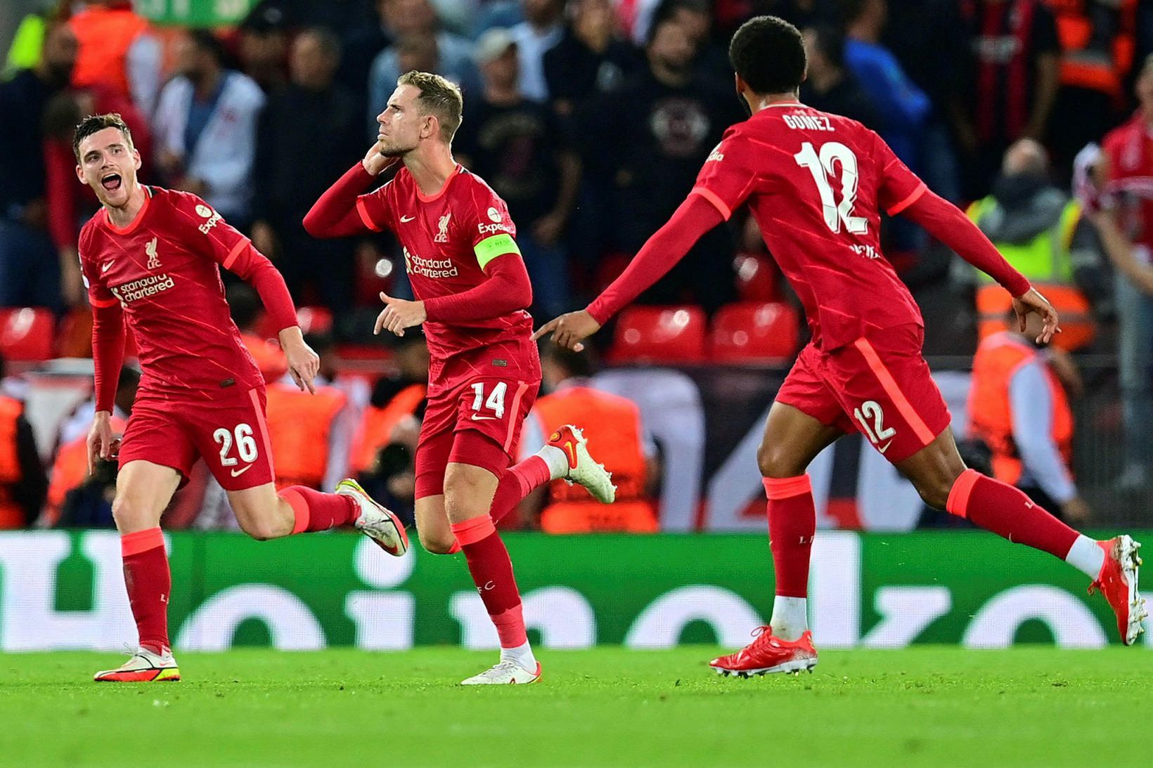 Liverpool hefur skorað níu mörk gegn einu í fyrstu fjórum …