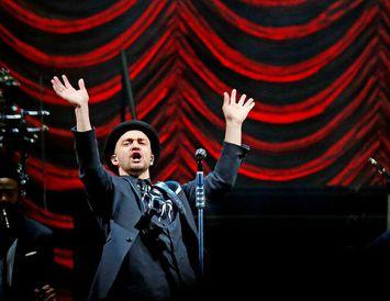 Justin Timberlake á tónleikum í Kórnum árið 2014.