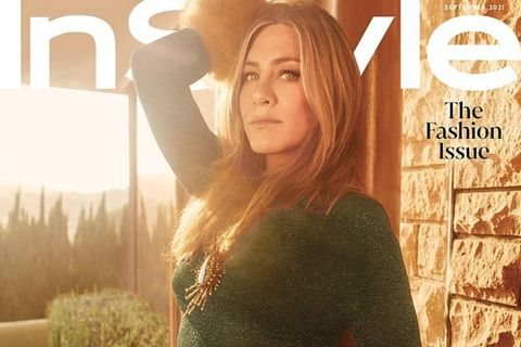 Jennifer Aniston á forsíðu nýjasta tölublaðs InStyle.