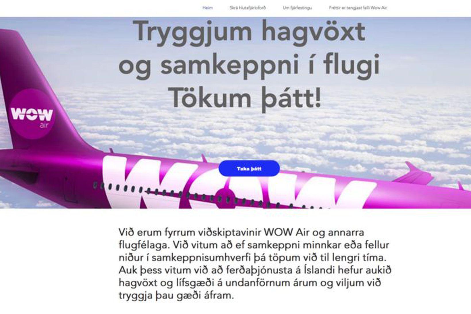 Á síðunni hluthafi.com geta einstaklingar og fyrirtæki lagt fram hlutafé …