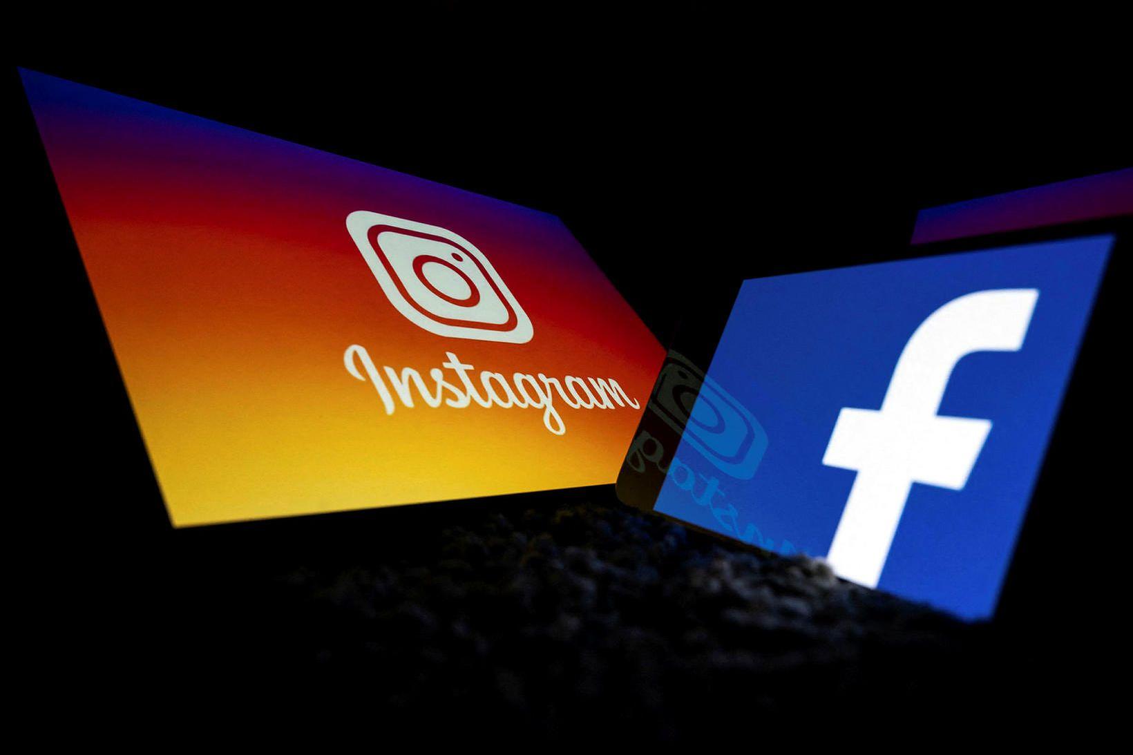 Instagram og Facebook liggja niðri sem stendur.
