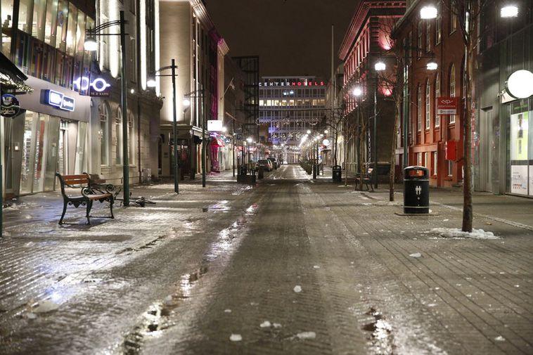 Deserted Reykjavik.