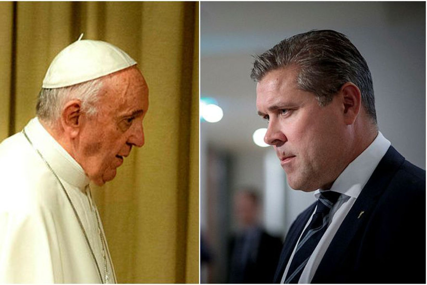 Bjarni Benediktsson kemur til með að hitta Frans páfa á …