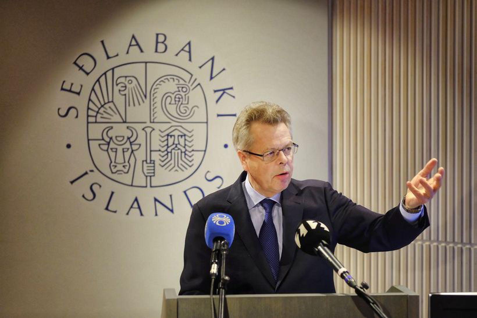Már Guðmundsson seðlabankastjóri kynnir skýrsluna í dag.