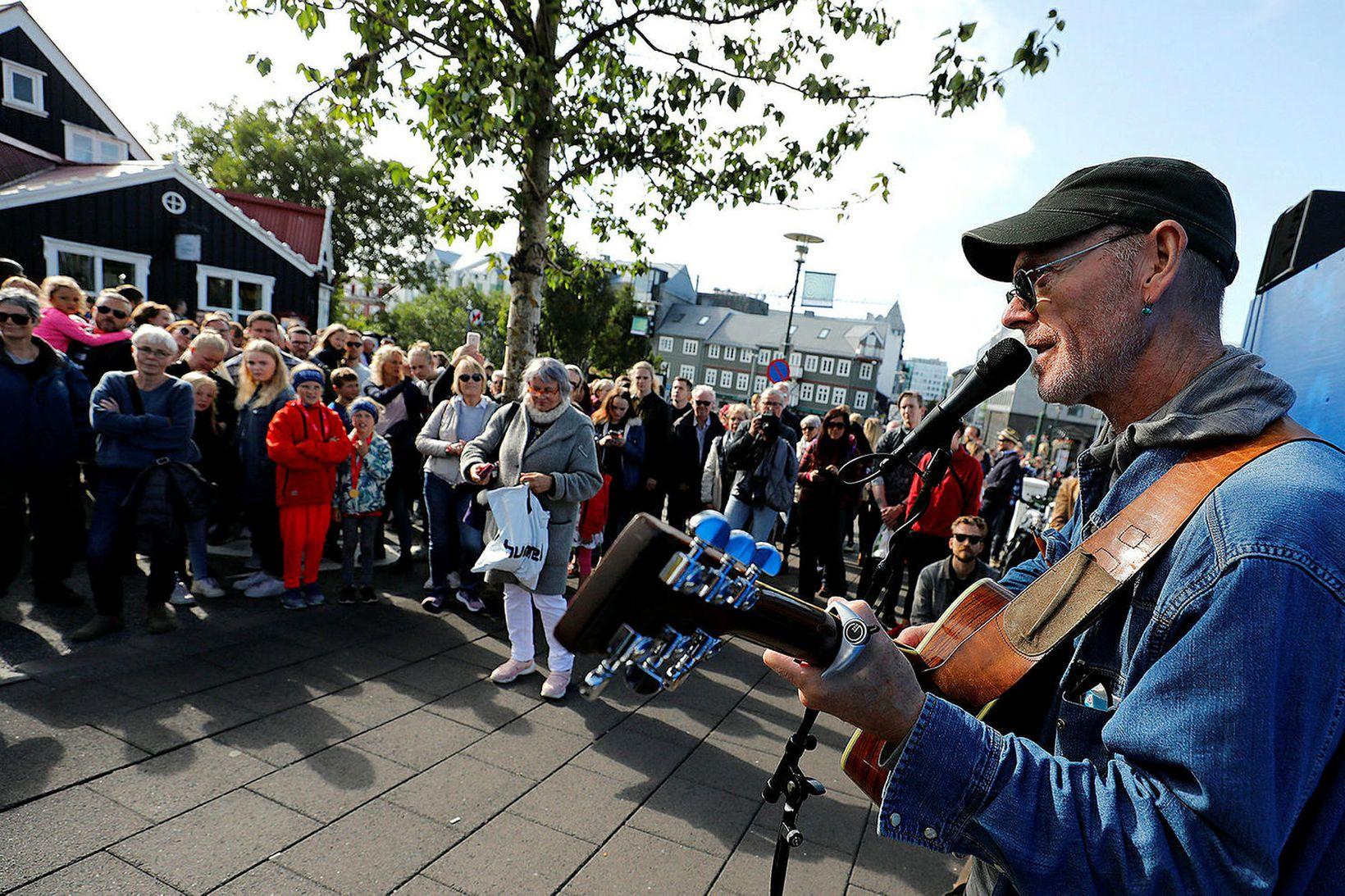 Frá Menningarnótt í Reykjavík í fyrra.