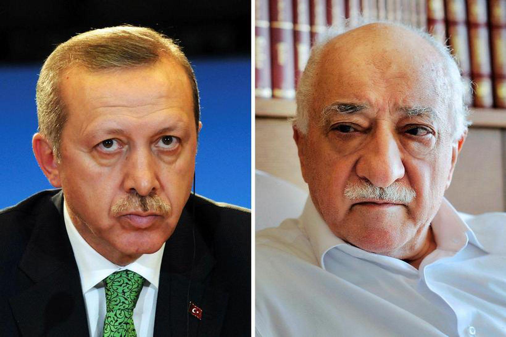 Erdogan og Gulen voru eitt sinn bandamenn en eru í …