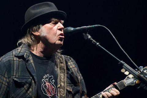Kanadíski söngvarinn Neil Young.