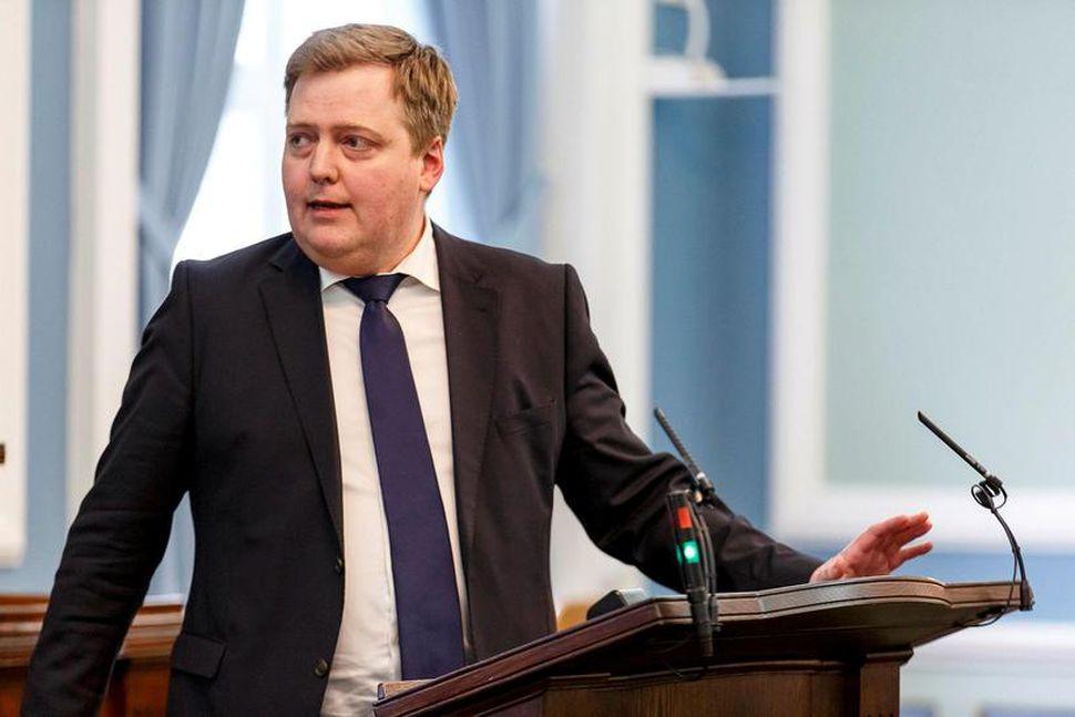 Sigmundur Davíð Gunnlaugsson, þingmaður Framsóknarflokksins.