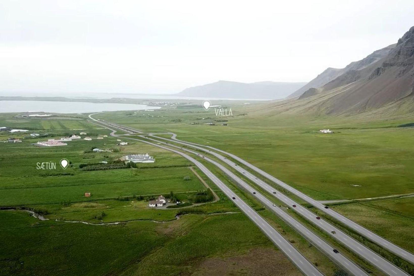 Breikkun Vesturlandsvegar - svona verður vegurinn eftir framkvæmdirnar.