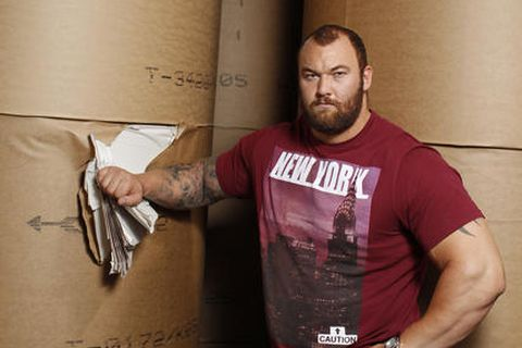 Iceland's Hafþór Júlíus Björnsson is once again Europe's strongest man.