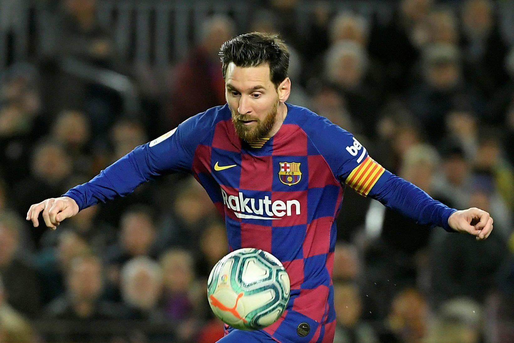 Lionel Messi hefur efni á að láta ögn af hendi …