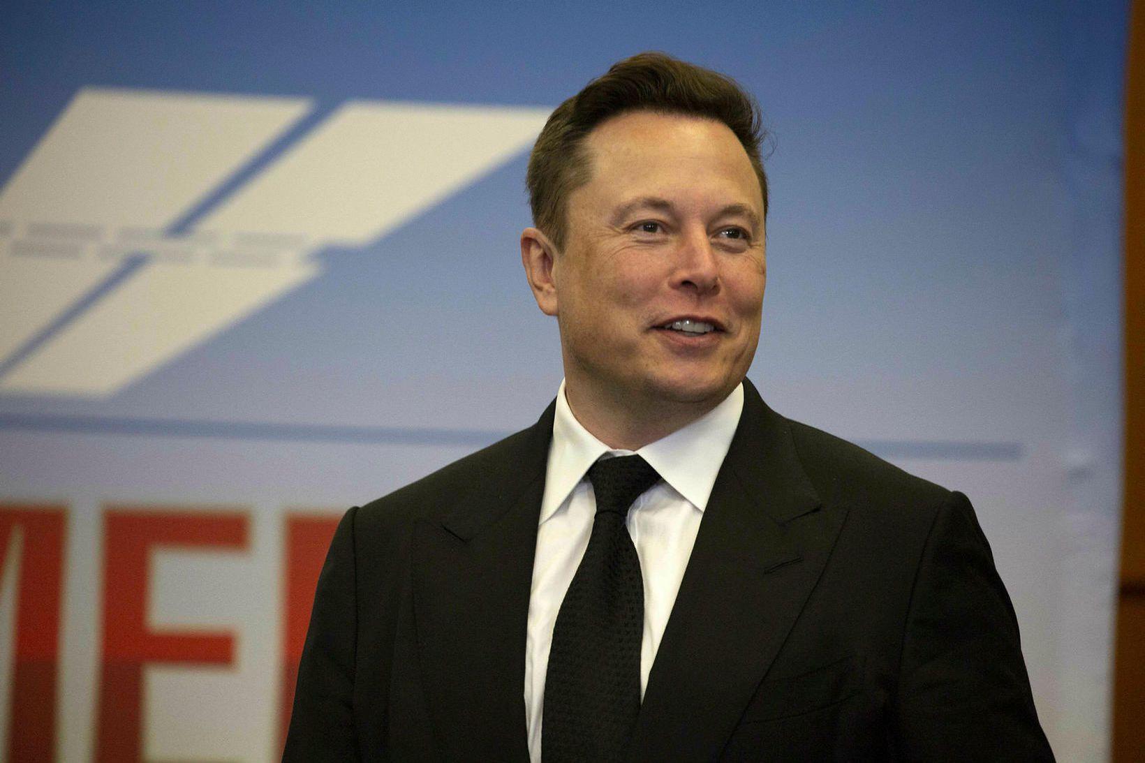 Elon Musk, stofnandi Tesla og SpaceX.