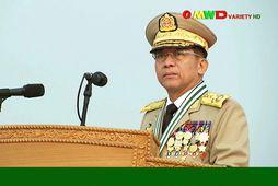 Min Aung Hlaing er yfirmaður herforingjastjórnarinnar.