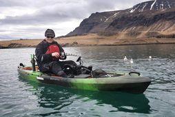 Baldur Guðmundsson segir kajakinn gefa sér mikla möguleika, bæði á sjó og í vatnaveiðinni.