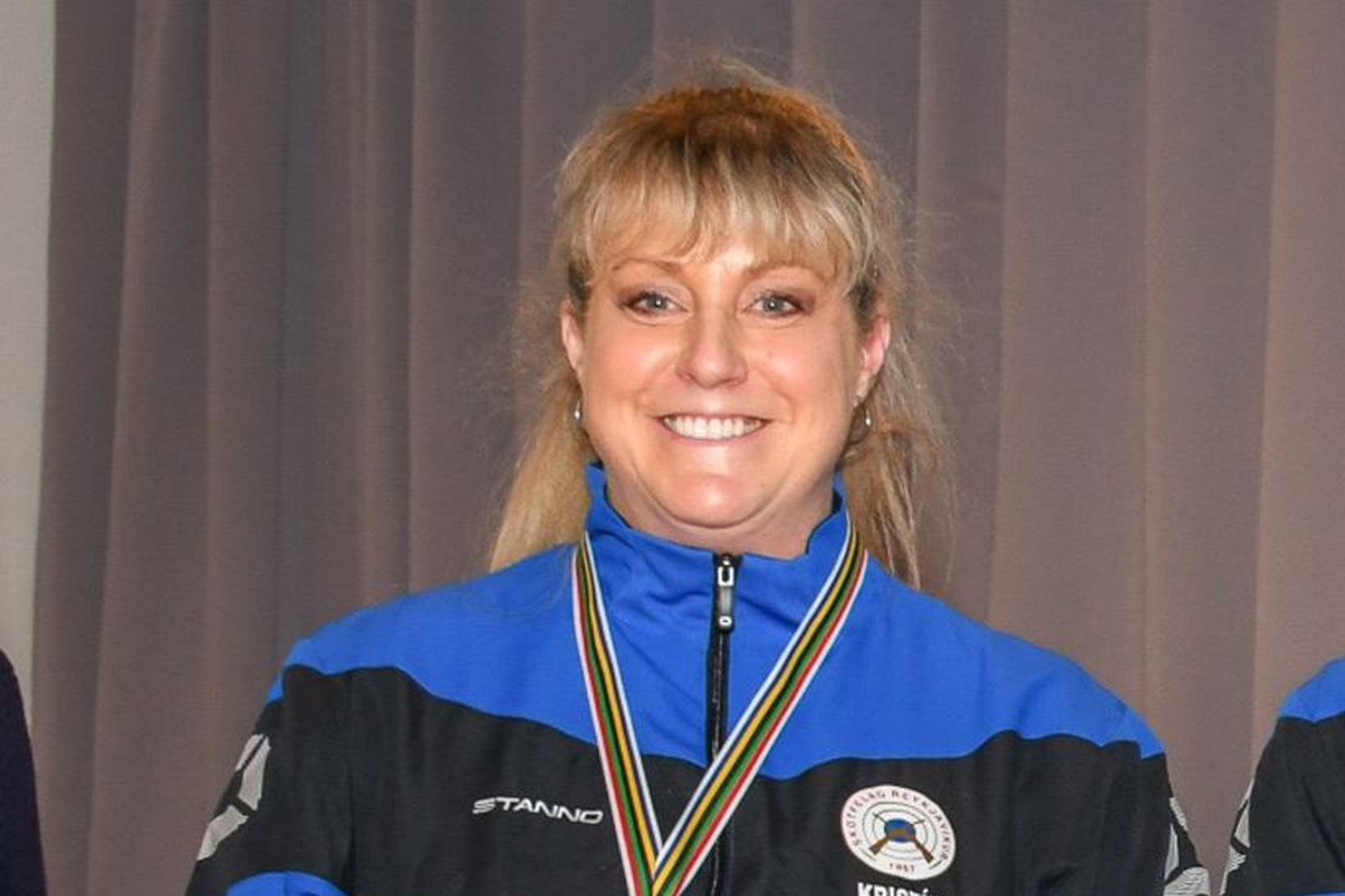 Kristína Sigurðardóttir setti Íslandsmet í skotfimi á Reykjavíkurleikunum í dag.