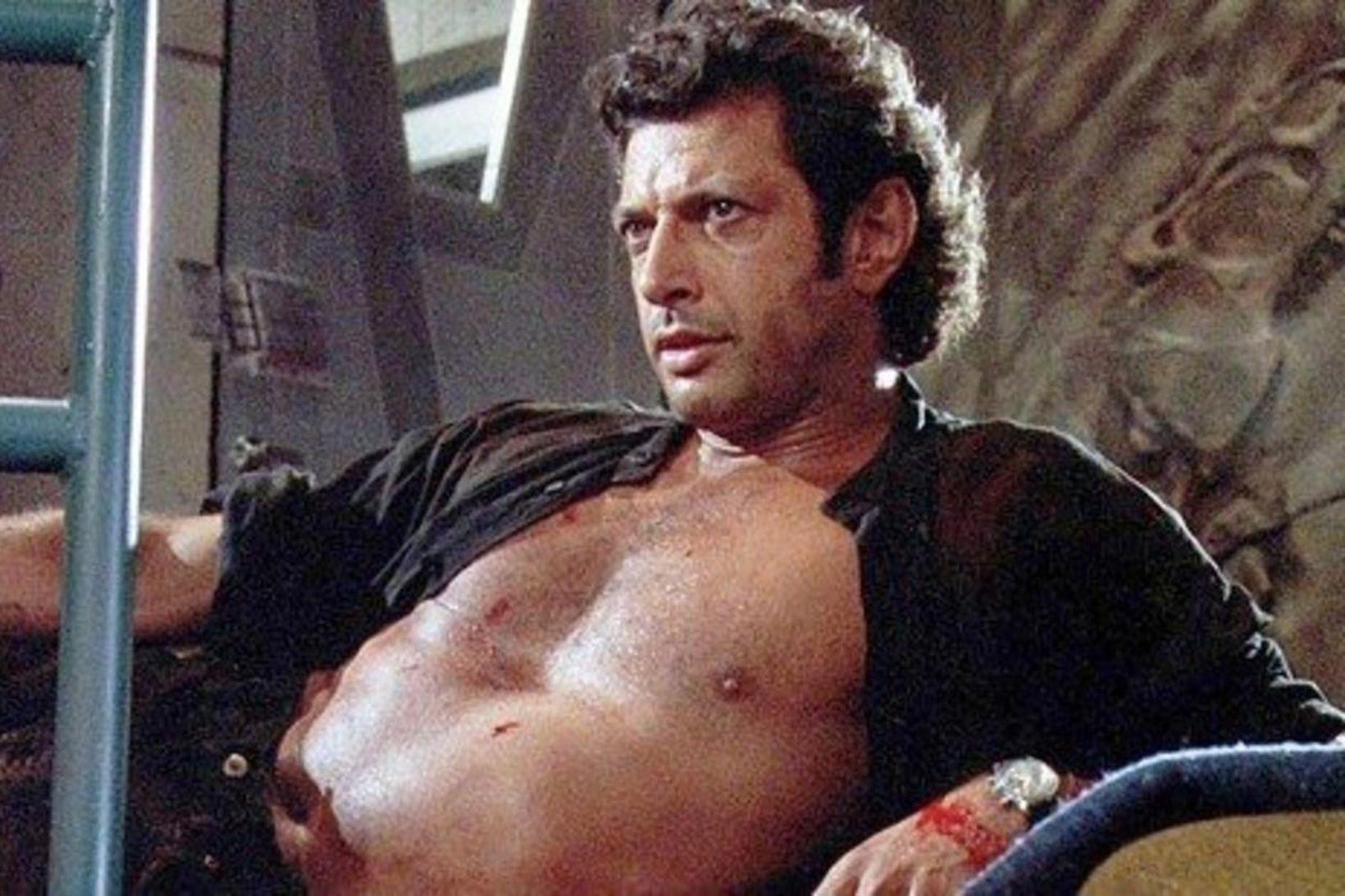 Jeff Goldblum í hlutverki Dr. Ian Malcolm árið 1993.