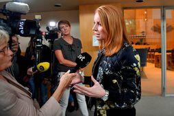 Annie Lööf, formaður sænska Miðflokksins.
